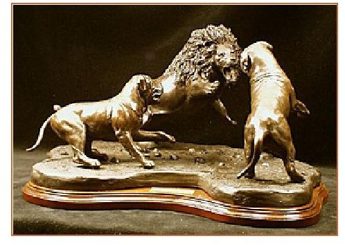 Mastiff Dog - Courageous -Pair with Lion