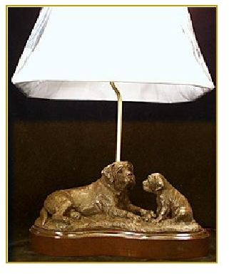Mastiff Dog - Little Fellow Lamp