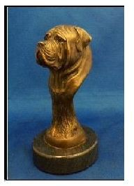 Mastiff Dog - Foundry Bronze Bust