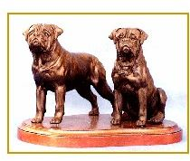 Bullmastiff - Small Pair on base