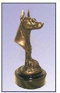 Miniature Pinscher Dog - Bronze Bust
