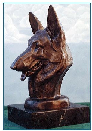 German Shepherd Dog - Life Size Bust