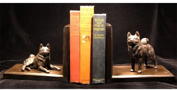 Norwegian Elkhound - Bookends