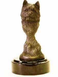 Norwich Terrier - Foundry Bronze Bust