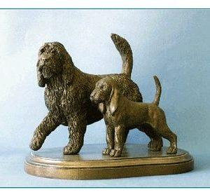 Otterhound - Adult Otterhound and Pup