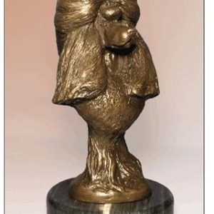 Poodle Standard - Foundry Bronze Bust