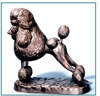Poodle Standard - Large Standing on Base