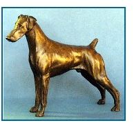 Doberman- Small Standing Dog - Natural Ears