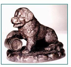 Saint Bernard - Puppy with Barrel