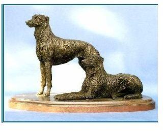 Scott. Deerhound - Pair on Base