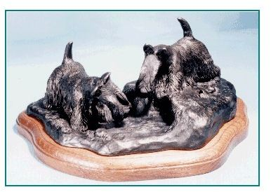Scottish Terrier - Scotties Going to Ground