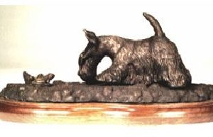 Scottish Terrier - with Frog