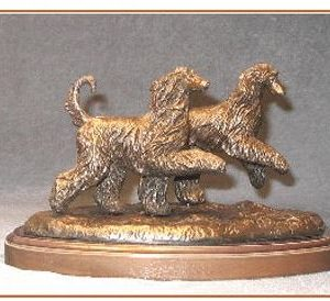 Afghan Hound -Small Pair Moving Dogs