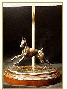 Doberman- Small Moving Dog Lamp