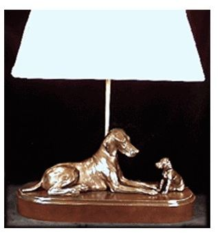 Vizsla - Adult and Puppy Lamp