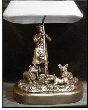 Corgi, Cardigan Welsh -Highland Clan Lamp