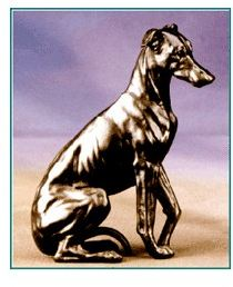 Whippet - Small Sitting Dog