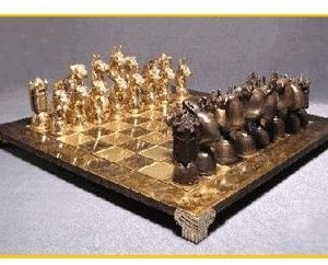 Boxer - Foundry Bronze Chess Set