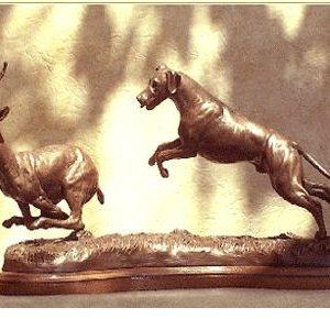 Rhodesian Ridgeback - Pursuit of a Gazelle
