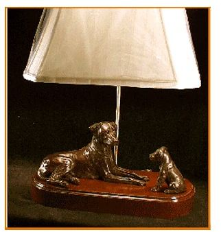 Rhodesian Ridgeback - Adult And Pup (Lamp)