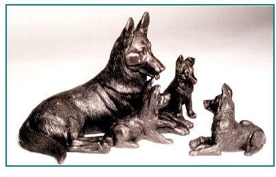 German Shepherd Dog - Mother and Pups