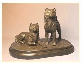 Akita - Pair on Base