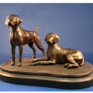 German Shorthair Pointer - Medium Pair on Base