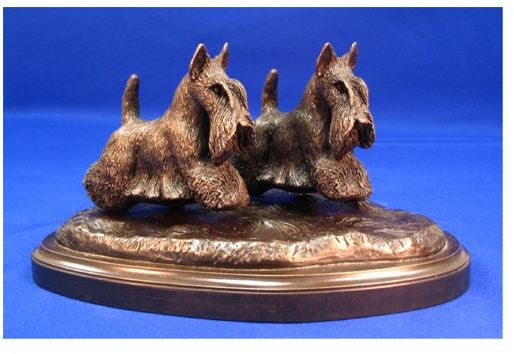 Scottish Terrier - Small Pair Running/Playing