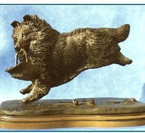 Shetland Sheepdog - Running with Flower Basket