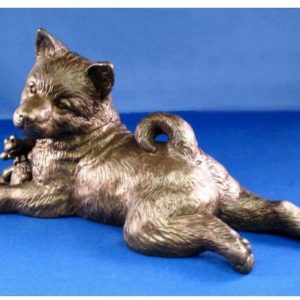 Norwegian Elkhound - Large Lying Puppy