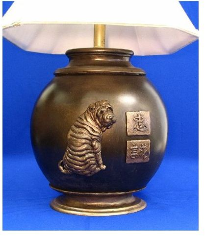 Chinese Shar Pei - Oval Lamp