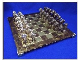 Bulldog - Bronze Chess Set
