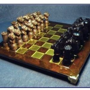 Bullmastiff - Bronze Chess Set