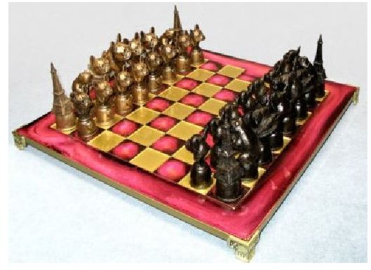 French Bulldog - Cold Cast Chess Set