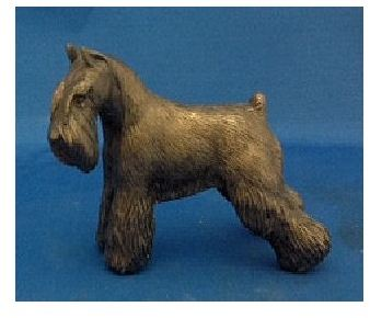 Miniature Schnauzer - Small Standing Dog Cropped