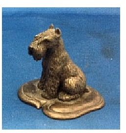 Miniature Schnauzer - Small Sitting on Base