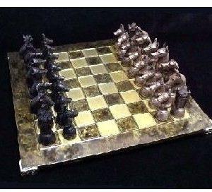 Doberman - Bronze Chess Set