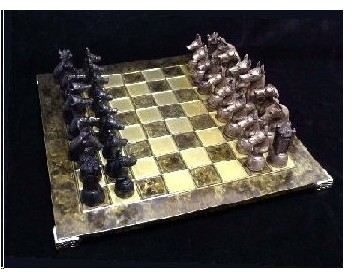 Doberman - Bronze Chess Set