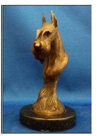 Giant Schnauzer - Bronze Bust