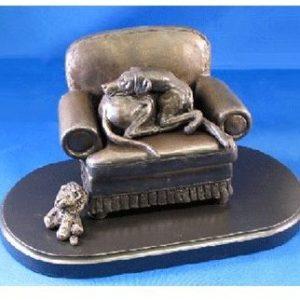 Rhodesian Ridgeback - Curled Sleeping on Chair