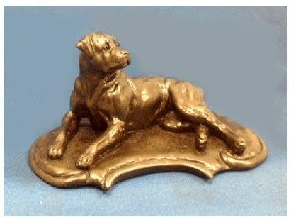Rottweiler - Lying on Deco Base