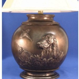 Gordon Setter - Oval Lamp