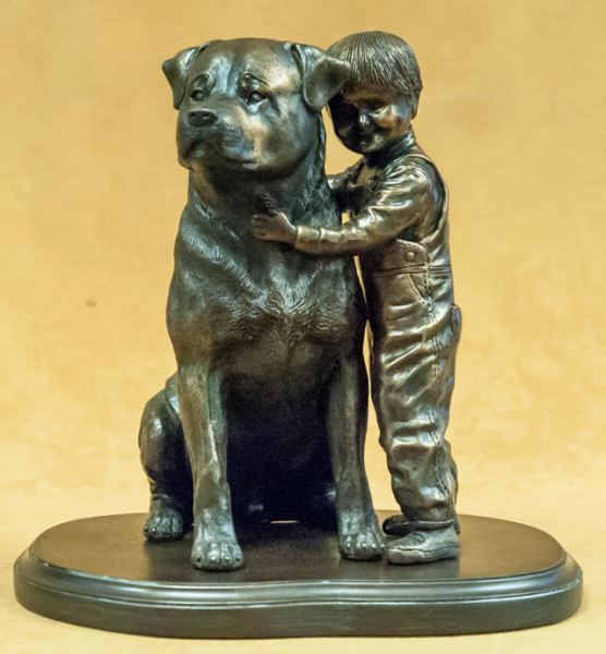 Rottweiler - With Boy