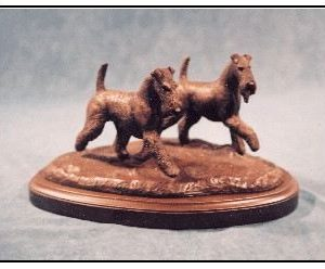 Airedale Terrier - Small Moving Pair Dogs