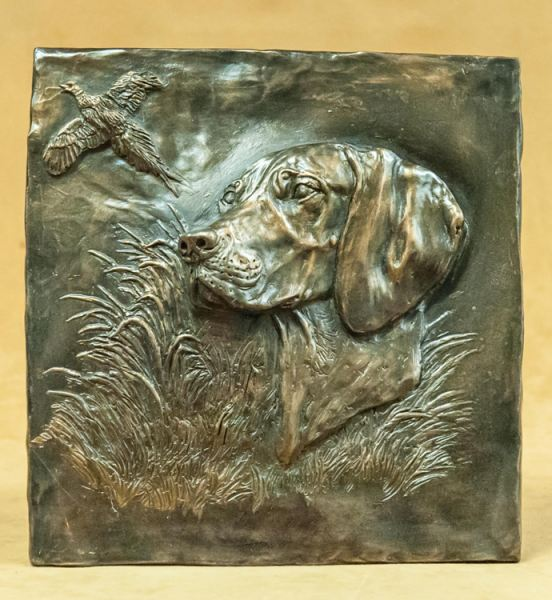 German Shorthair Pointer - Relief Design Plaque