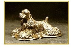 American Cocker Spaniel - Lying On Deco Base
