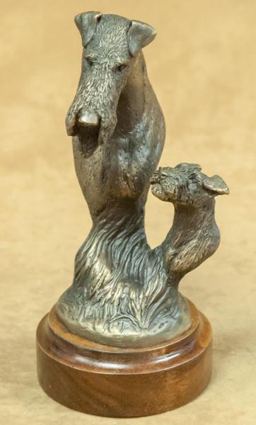 Airedale Terrier - Foundry Bronze Bust
