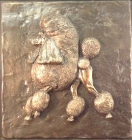 Poodle- Relief Design Plaque