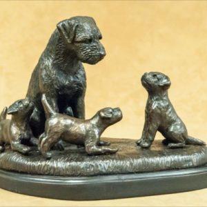 Border Terrier - Family Scene