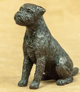 Border Terrier - Small Sitting Dog